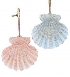 Plastic sea shell ornament