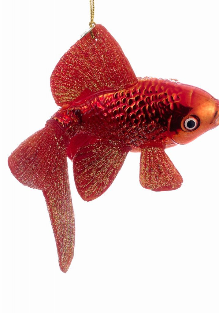 Noble gems glass goldfish