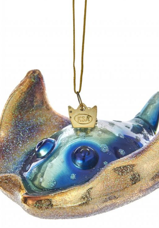 Noble gems glass sting ray orn