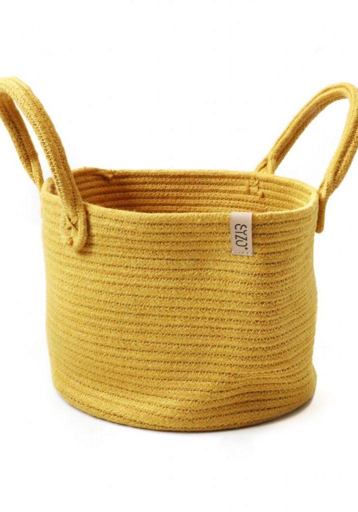 storage basket mustard